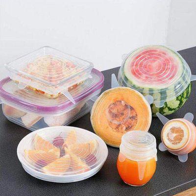 6 pièces Couvercles de Conservation Des Aliments En Joint Bol Réutilisable Hermétique Stretch Wrap Couverture Cuisine Ustensiles De Cuisine