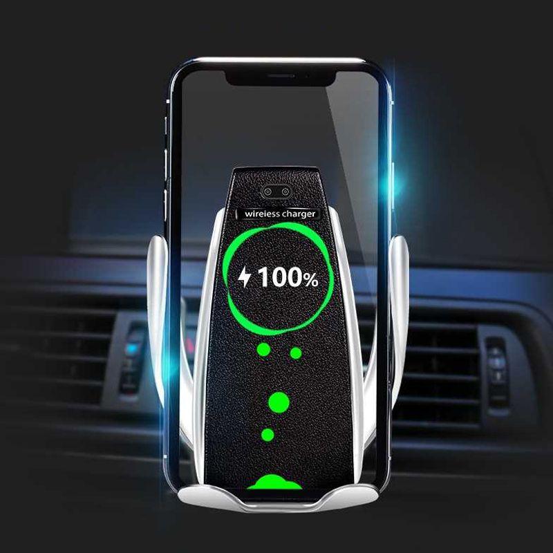 Chargeur de voiture sans fil pour iPhone Samsung Huawei pince automatique intelligente 10W Qi charge rapide support de chargeur de voiture sans fil support de chargeur de téléphone 10W