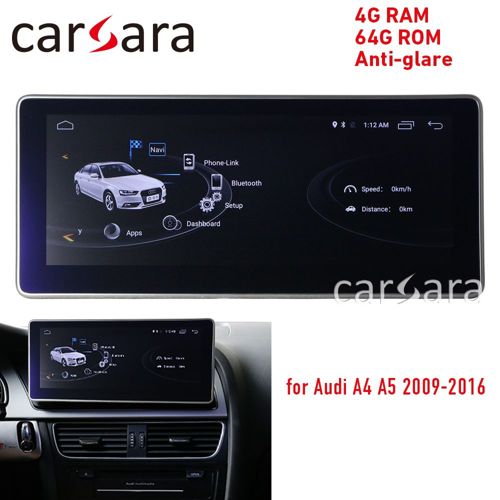 Anti-glare 4G RAM Android display für Audi A4 A5 09-16 10,25 touch screen GPS navigation radio stereo dash multimedia player