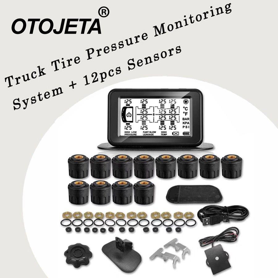 Verbesserte version Tire Pressure Monitoring System Auto TPMS 6/8/10/12 Sensoren für Lkw Anhänger, RV, Bus, Miniatur passagier auto