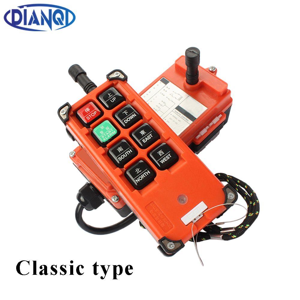 F21-E1B AC 220V 110V 380V 36V DC 12V 24V wireless Industrial remote controller switches Hoist Crane Control Lift Crane 315mhz