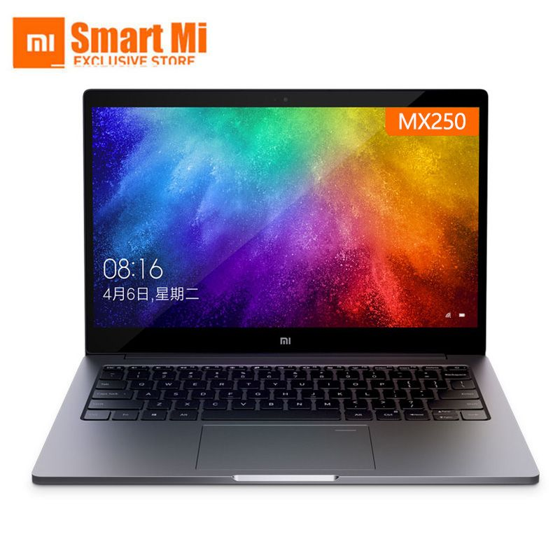 Xiao mi mi Notebook Laptop Air 13,3 Zoll Englisch Win10 MX250 Dual Gewidmet Karte Intel i5/i7 8GB ram 256GB SSD Mit Fingerprint