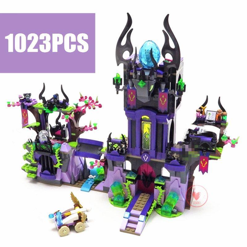 Nouveau elfes magie ombre château Fit Legoings elfes fée Figure modèle bloc de construction briques jouets filles jouet anniversaire cadeau enfant noël