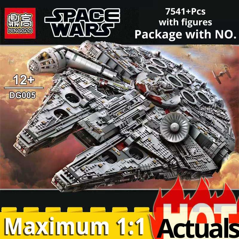 05132 ultimative Collector Series 7541PCS Max millenniumlys Falcon raumschiff Bausteine Ziegel legoinglys 2017 Star Wars 75192