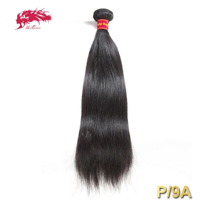 Armure brésilienne de cheveux raides Pro. Rapport/9A 1/3/4 pièces naturel noir Remy cheveux livraison gratuite Ali Queen 100% paquets de cheveux humains