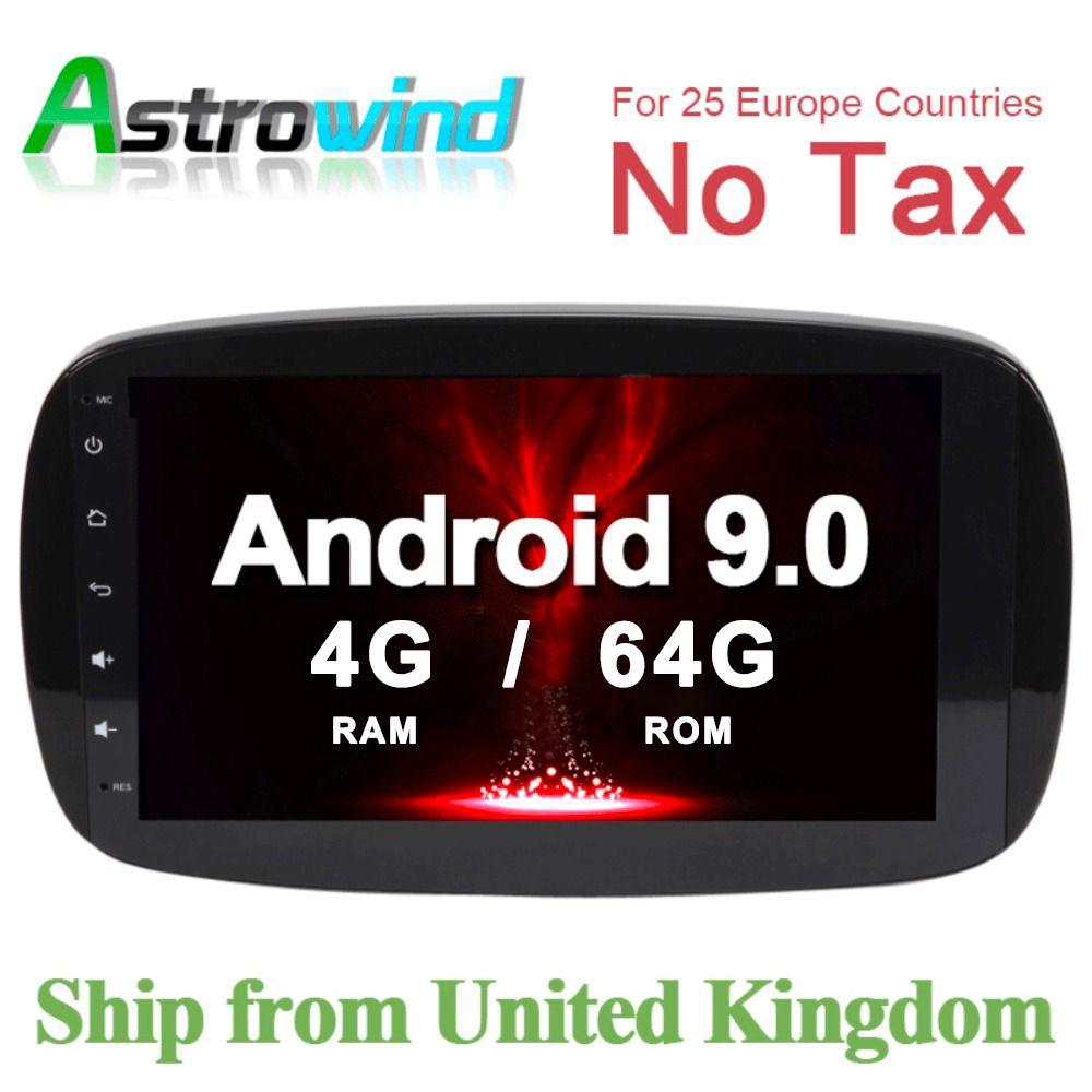 64G ROM Auto GPS Navigation System Stereo Media Auto Radio für Mercedes Benz Smart Fortwo C453 A453 W453 2015 2016 2017 2018 JBL