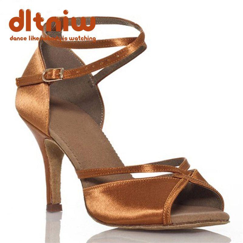 2019 femme noir Tan danse salle de bal chaussure femmes large largeur talons personnalisés Salsa Latino femmes chaussures de danse latine