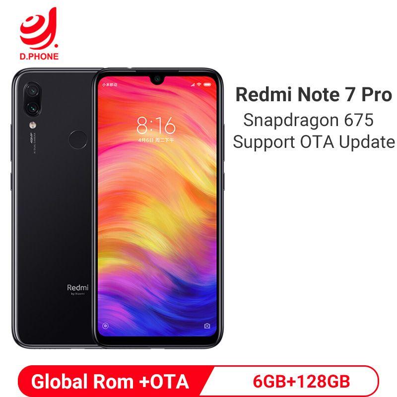Offizielle Globale Rom Xiaomi Redmi Hinweis 7 Pro 6 GB RAM 128 GB ROM Octa Core Prozessor 48MP IMX586 Kamera 4000 mAh Smartphone