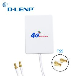 Dlenp 4G LTE Rotuter Antenna 3G 4G External Antennas for Huawei 3G 4G LTE Router Modem Aerial TS9 Connector with 3m cable