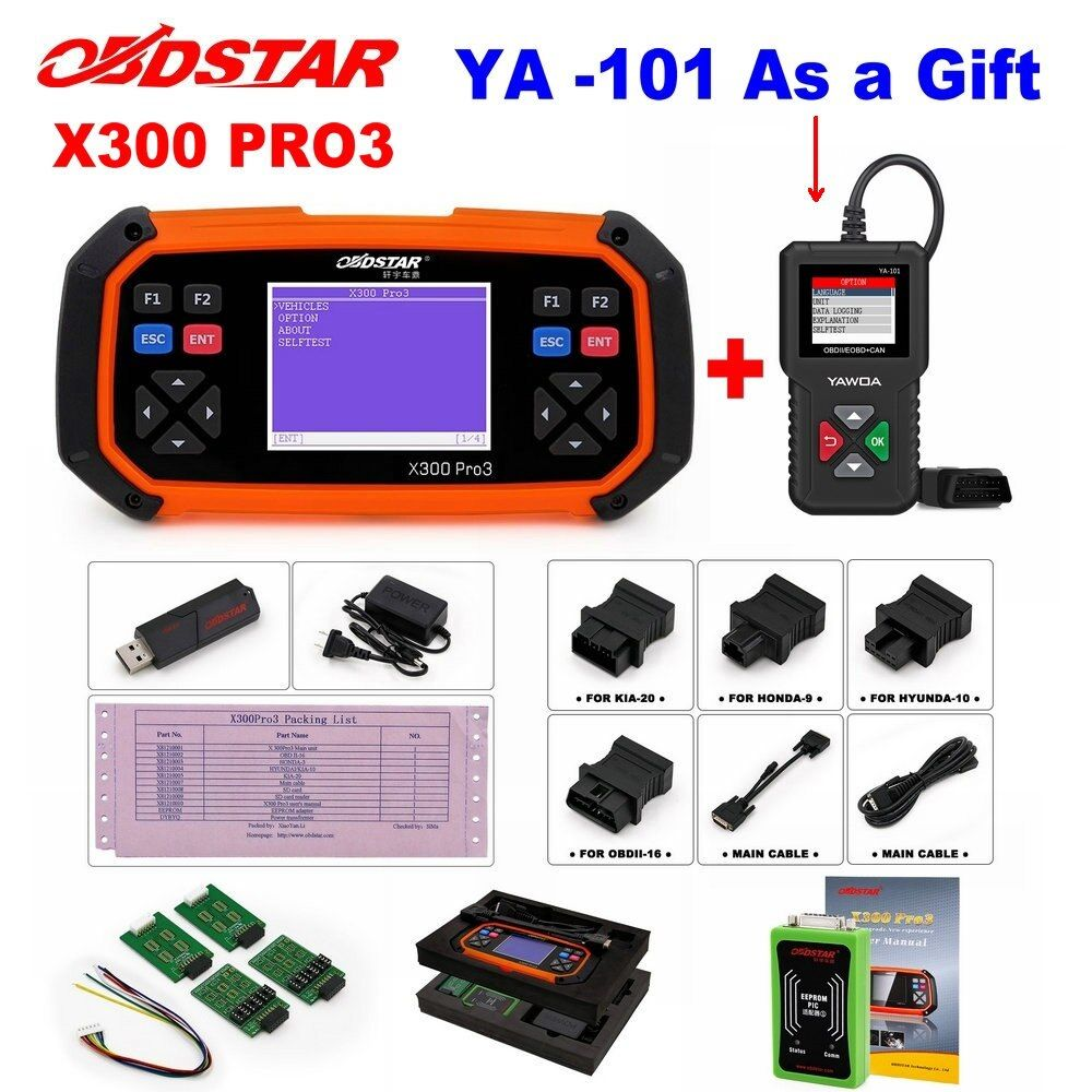 OBDSTAR X300 PRO3 Schlüssel Master OBDII X300 Schlüssel Programmierer Entfernungsmesser-korrektur Tool EEPROM/PIC Update Online besser als skp-900