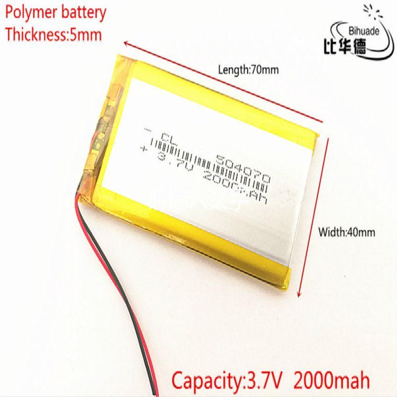 Litre énergie batterie 504070 3.7V lithium polymère batterie 2000 mah interphone 504270 GPS véhicule enregistreur de données de voyage