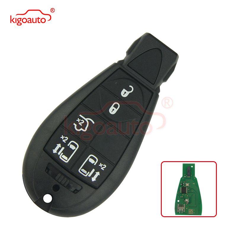 #9 05026197AD calibre, voyage, Grand Cherokee, Voyager Fobik key remote 5 boutons 434Mhz pour Chrysler modèle européen pas de panique
