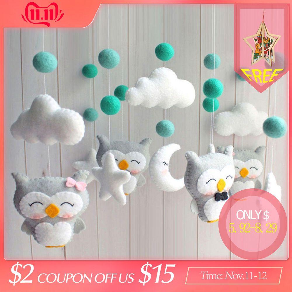 Baby Crib Holder Rattles Bracket Clockwork Music Box DIY Bed Bell Material Package Toy Pregnant Mom Handmade Toys For Baby