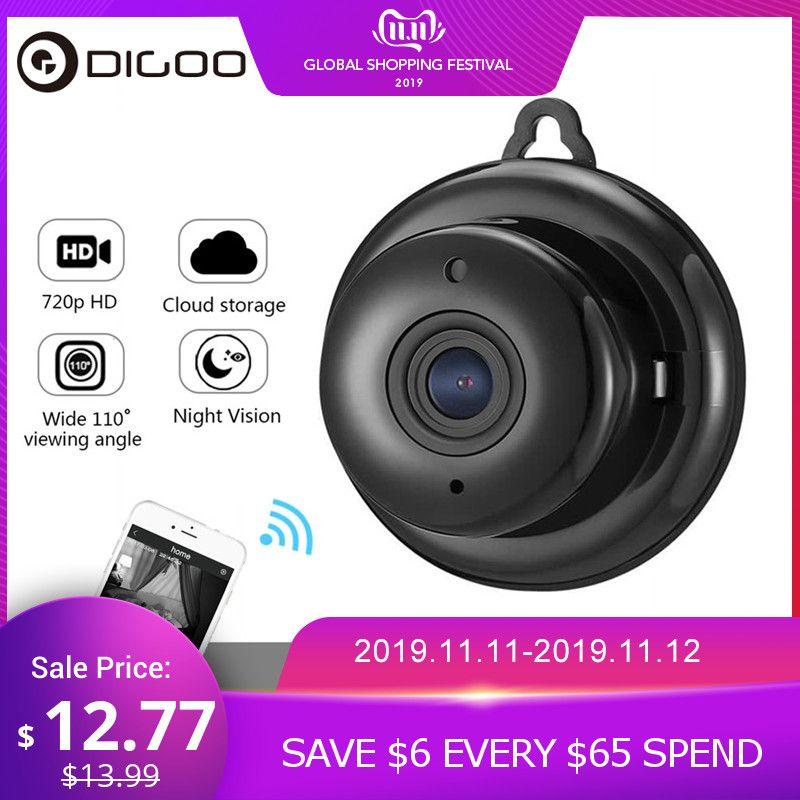 DIGOO DG-MYQ 2.1mm objectif 720P sans fil Mini WIFI Vision nocturne intelligente maison sécurité IP caméra Onvif moniteur bébé moniteur