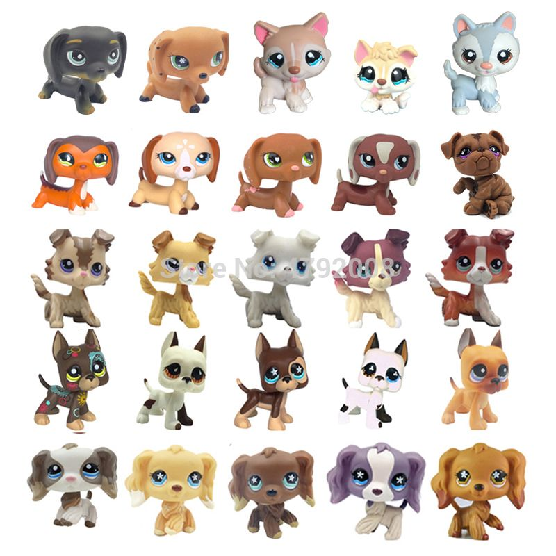 lps cat Rare animal pet shop toy stands dog dachshund collie cocker spaniel great dane husky old original figure collection