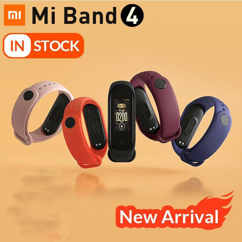 New global version Xiaomi Band 4 Band4 Smart Me Band 3 Color Screen Brace Heart Rate Fitness Music Bluetooth 50m Waterproof
