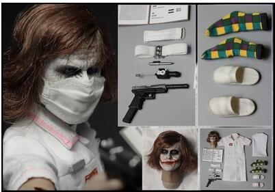 Batman Dark Knight 1/6 Joker Mit Krankenschwester Kleid Uniform Halloween Krankenschwestern Outfit Kostüme Action Figure Modell Sammlung