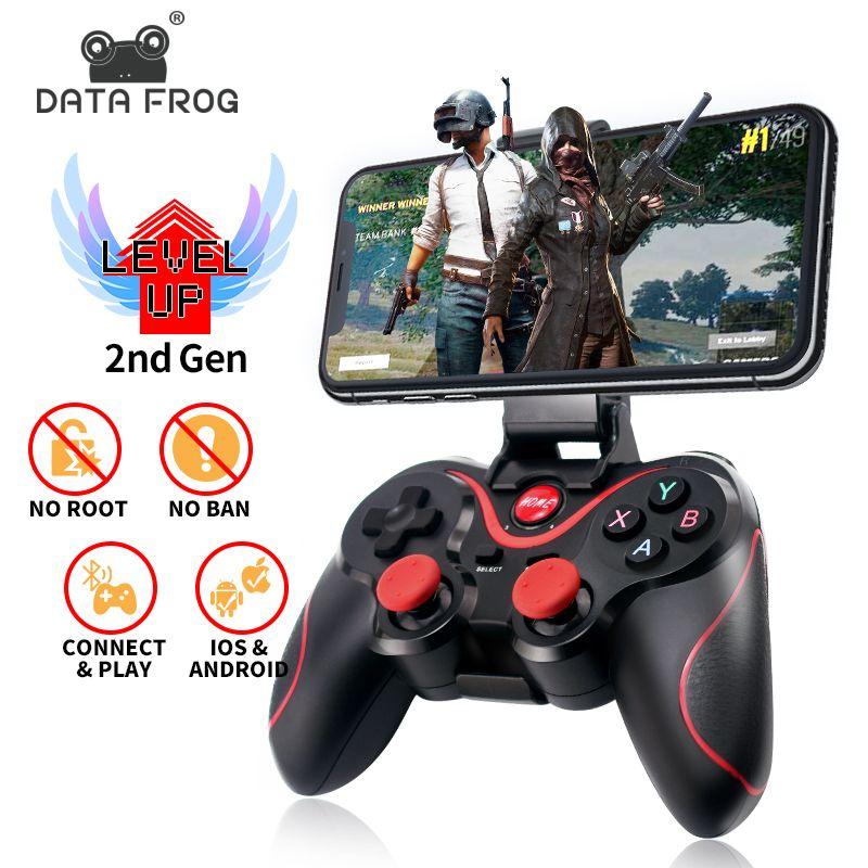 Contrôleur officiel de jeu d'application de soutien de manette de Bluetooth sans fil de grenouille de données pour le téléphone intelligent d'android d'iphone pour la boîte de TV de PC de PS3