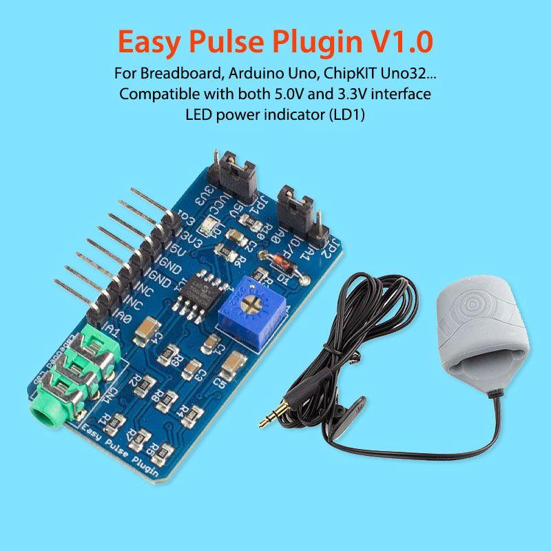 Elecrow Easy Pulse Plugin V1.0 pour Arduino doigt capteurs d'impulsions capteur de fréquence cardiaque Modules électroniques bricolage pour projet