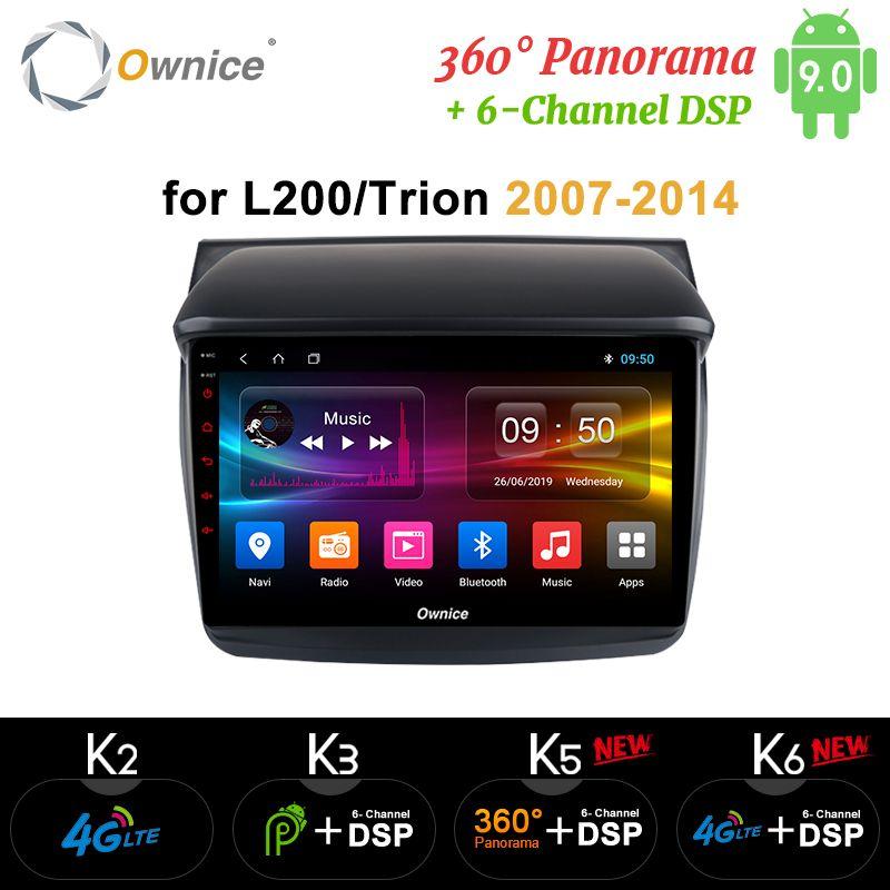 Ownice K1 K2 K3 Android 9.0 Auto Audio FÜR MITSUBISHI L200 Trion 2007-2014 dvd-spieler gps-navigation kopf einheit 8 Core 32G ROM