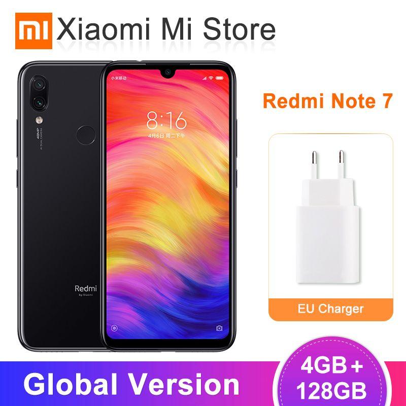 Version globale Xiaomi Redmi Note 7 4GB 128GB Smartphone Snapdragon 660 Octa Core 48MP double caméra 6.3