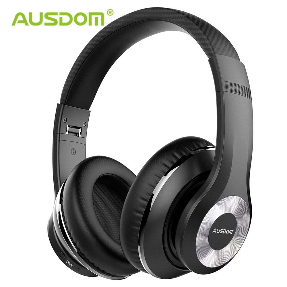 Ausdom ANC10 actif suppression du bruit Bluetooth casque sans fil pliable 20H temps de jeu Hifi basses profondes Bluetooth casque
