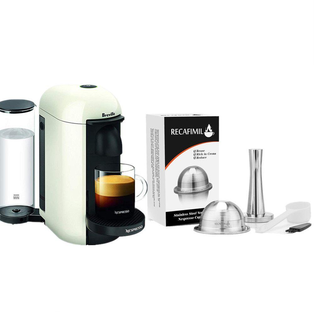 Petits filtres à café pour Nespresso Vertuo Vertuoline Plus & Delonghi ENV150 Capsule réutilisable rechargeable en acier inoxydable
