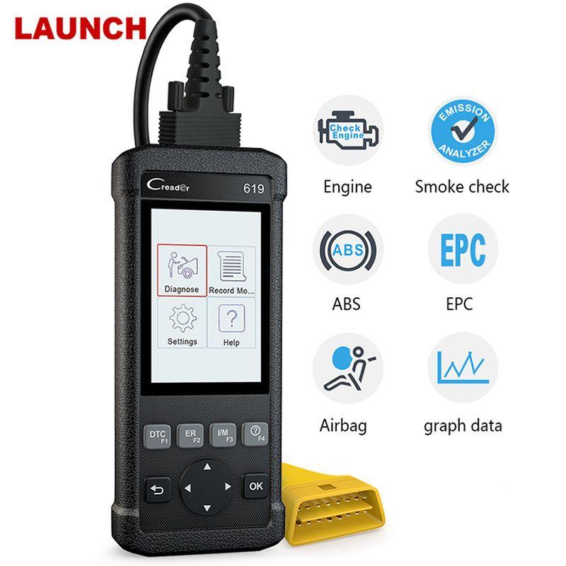 Starten X431 Creader CR619 ABS SRS Airbag O2 Sensor Überwachung Scanner ODB2 Auto Diangostic Werkzeug