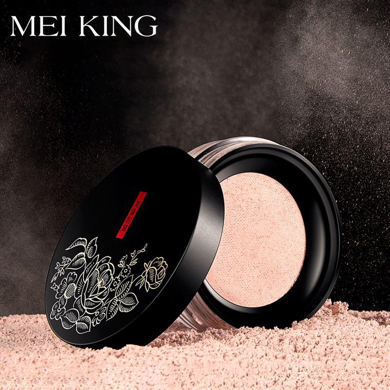 MEIKING Rose plante poudre contrôle de l'huile poudre lâche cosmétiques compact blanchiment éclaircir la peau ton maquillage réglage poudre minérale
