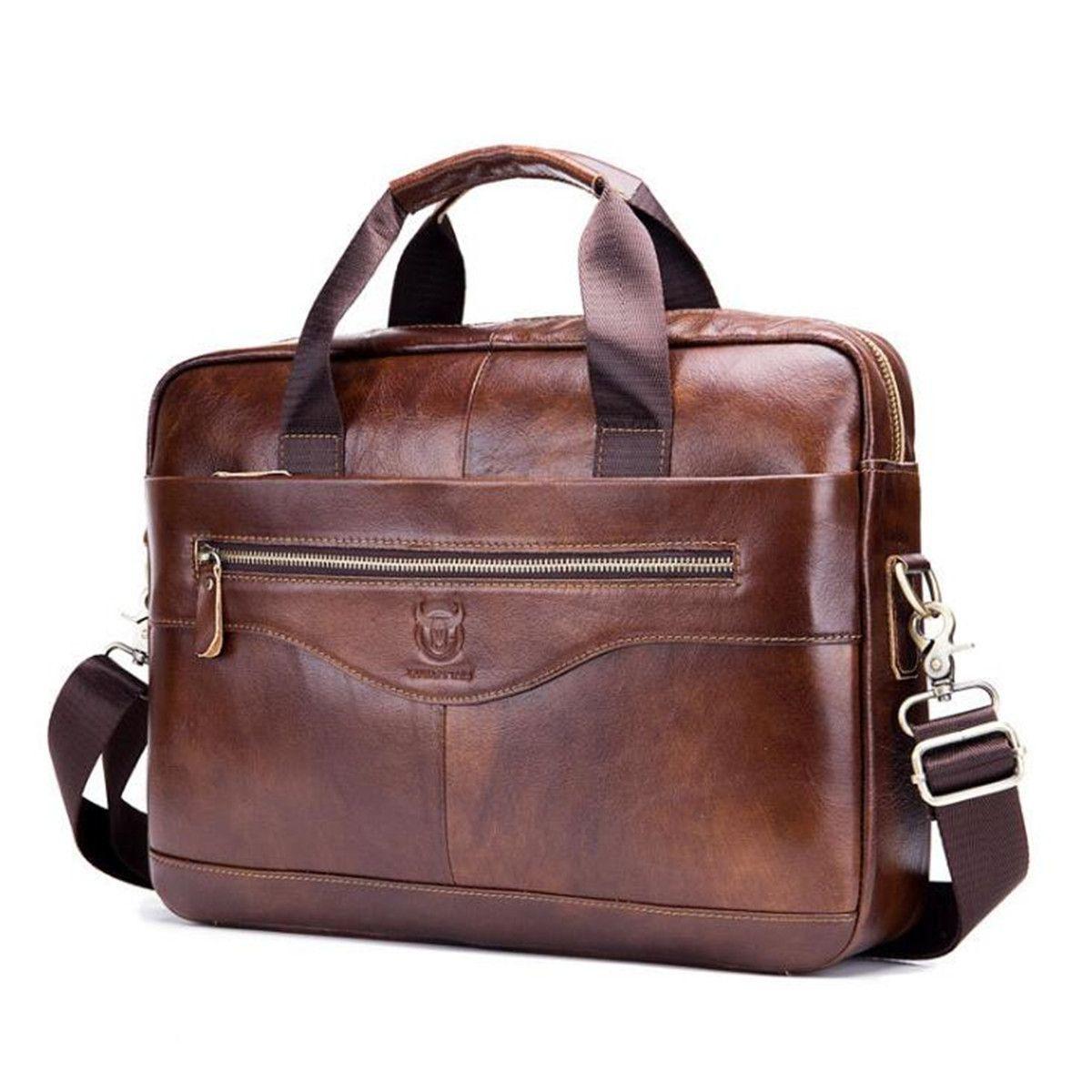 Hommes porte-Documents avocat en cuir véritable sac à main Vintage sacoche pour ordinateur portable homme ordinateur sacs à bandoulière décontracté sac pour hommes Documents