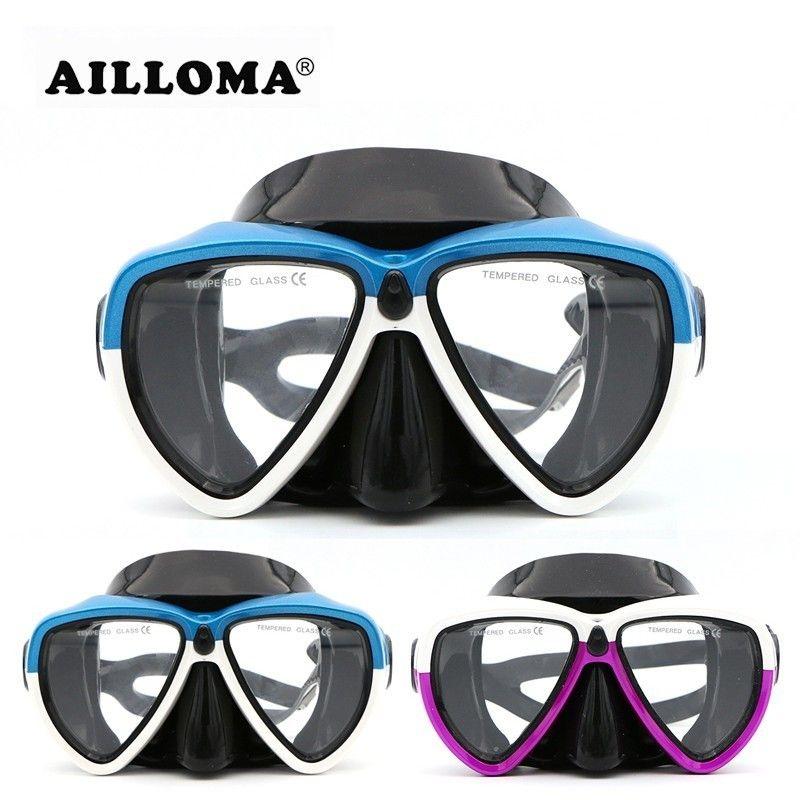 AILLOMA caméra sous-marine sport adulte équipement de plongée sous-marine Anti-buée Silicone masques de natation pour femmes et hommes tuba