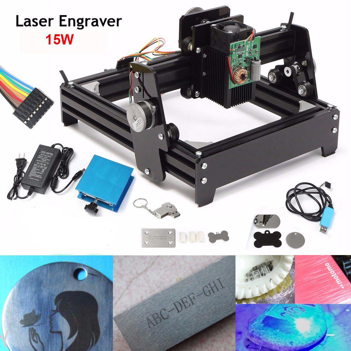 Neue 15 W Laser ALS-5 USB Desktop 15000 mW CNC Laser Stecher DIY Kennzeichnung Maschine Für Metall Stein holz Gravur Bereich 14x20 cm
