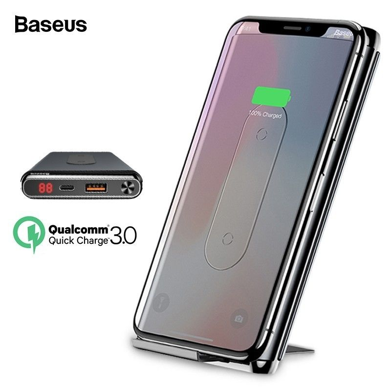 Baseus 10000mah Quick Charge 3.0 Power Bank Qi Wireless Charger For iPhone Xiaomi mi PD Fast External Battery Charger Powerbank
