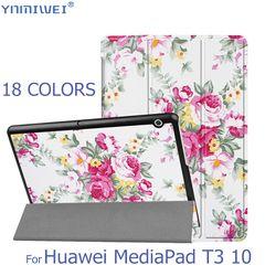 Чехол с откидной крышкой для huawei MediaPad T3 10 планшетный Стенд тонкие Чехлы для huawei T3 9,6 Honor игровой коврик 2 Funda AGS-L09 AGS-L03 W09