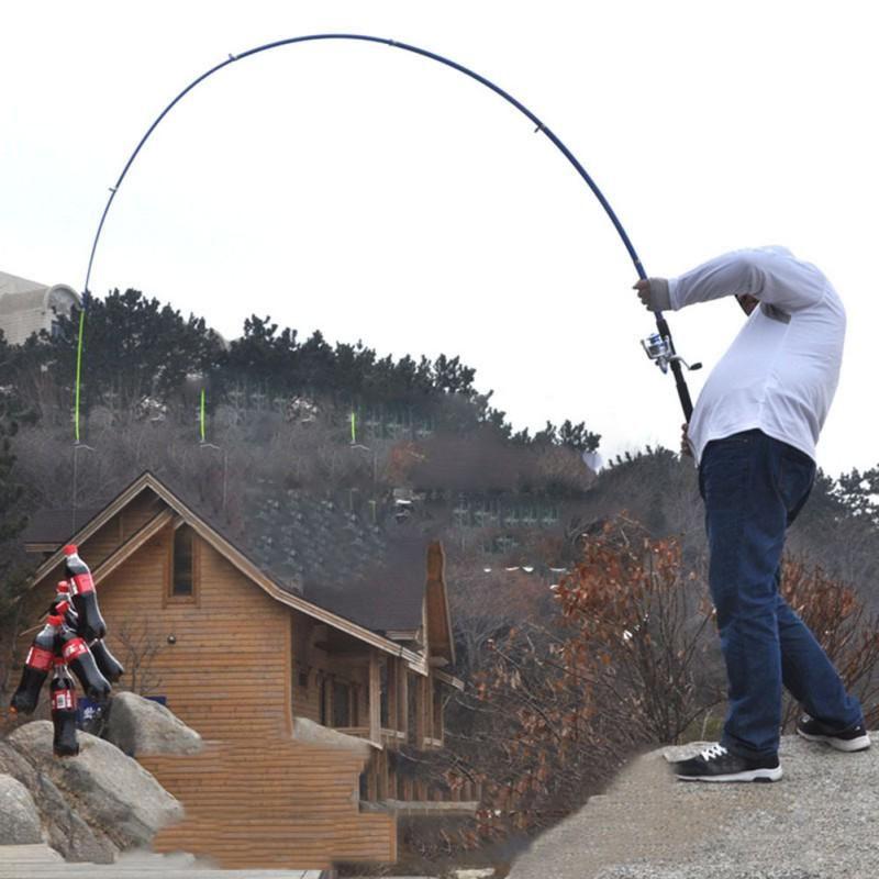 210 cm, 240 cm, 270 cm, 300 cm, 360cm tige en Fiber de carbone filature canne à pêche coulée canne de voyage 4 Sections Action rapide canne à pêche leurre