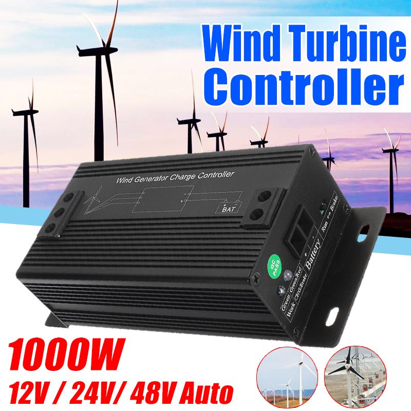 Hohe Effizienz unten 1000 W 12 V/24 V/48 V Wasserdichte Wind Turbinen Generator Laderegler Regler outdoor Wind Generator