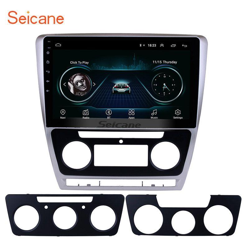 Seicane 10.1 Android 8.1 HD 2Din autoradio GPS stéréo pour 2007-2014 VW Volkswagen SKODA Octavia Bluetooth unité de tête miroir SWC