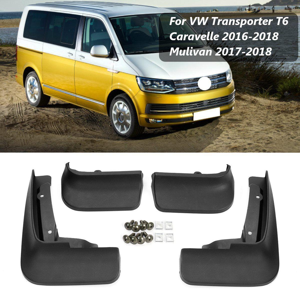Auto Schlamm Flaps Splash Guards für Fender Schmutzfänger Kotflügel Für VW Transporter T6 Caravelle 2016 2017 2018 Mulivan 2017- 2018
