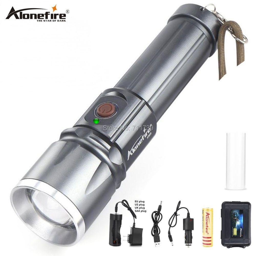 AloneFire lanterne X900 haute puissance lampes de poche LED CREE XM-L2 T6 USB Rechargeable Zoom lanterne 26650 LED torche de travail Zaklamp