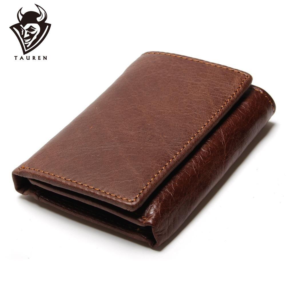 RFID portefeuille antivol numérisation cuir portefeuille moraillon loisirs hommes mince en cuir Mini portefeuille Case carte de crédit triple sac à main