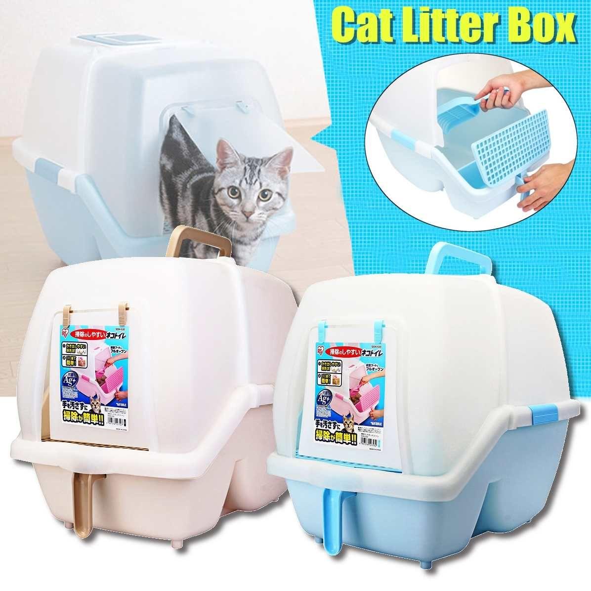 Alle Geschlossenen Kunststoff Katze Bedpans Cat Toilet Training Kit Wurf Box Welpen Wiederverwendbare Katzenstreu Matte Pet Reinigung Ausbildung Versorgung