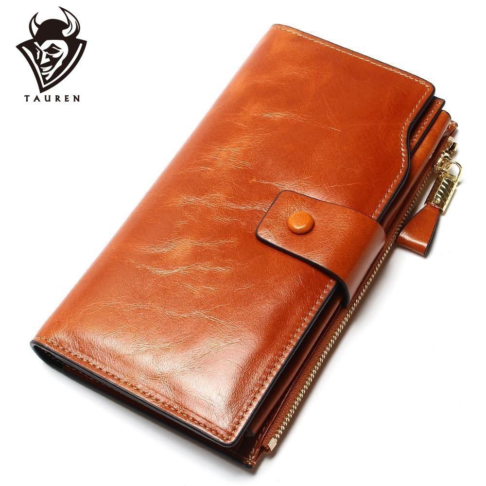 2019 nouveau Design mode multifonctionnel sac à main en cuir véritable portefeuille femmes Long Style peau de vache sac à main en gros et au détail sac