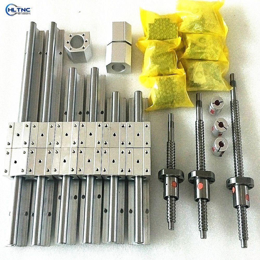 Linearführung Schiene SBR20-400/900/2750mm + kugelgewindetriebe bälle schrauben SFU2005 + BK BF + kupplungen + chrom linear stange 8