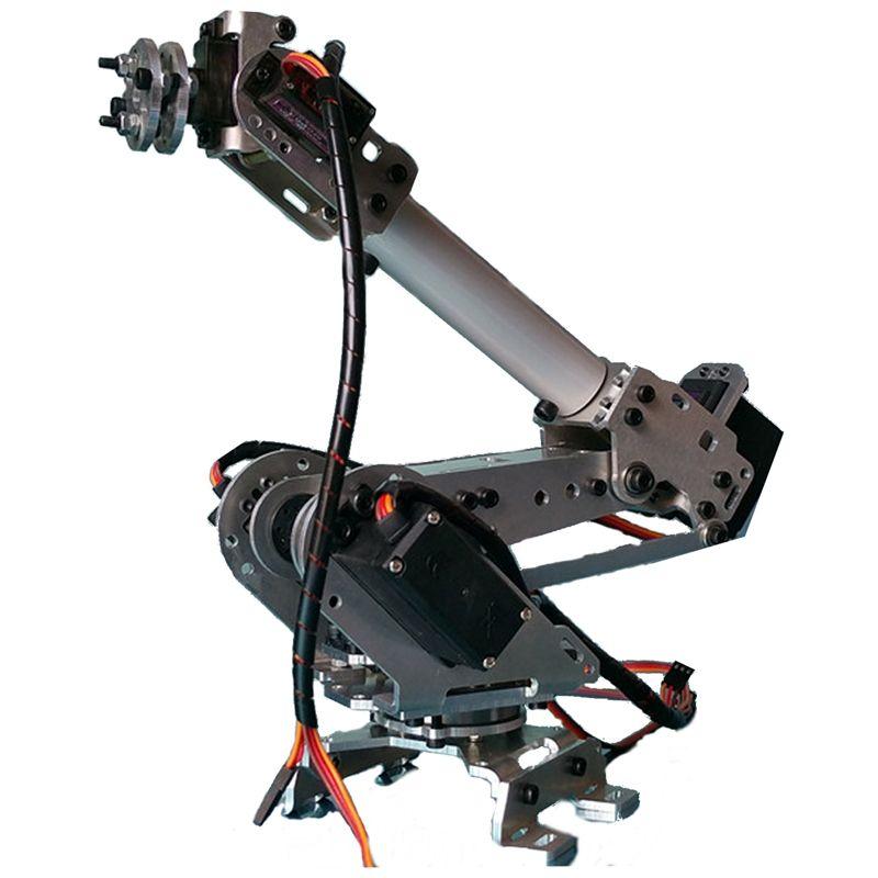 Neuheiten 6DOF Mechanische Roboter Volle Stahl Lager Arm Klaue Mit Servos Für Robotik DIY kinder Spielzeug Roboter Arm