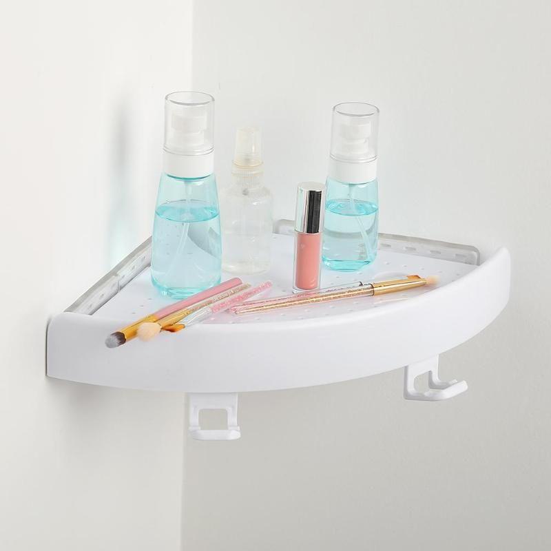 Etagère salle de bain Qrganizer etagère d'angle Caddy salle de bain plastique Snap up etagère d'angle rangement douche support mural porte shampoing