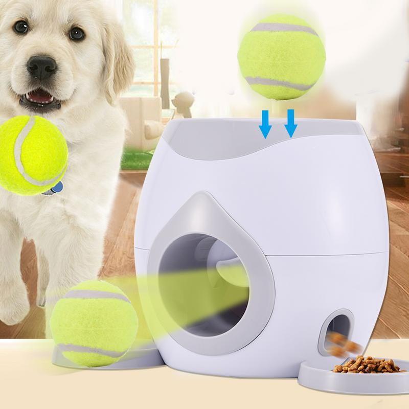 Lebensmittel Belohnung Maschine Hunde Mit Tennis Ball Interaktive Fetch Behandeln Pet Ball Spielen Spielzeug Spiel IQ Training Dropshipping