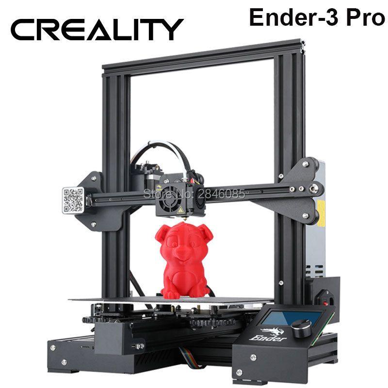 Heißer Creality 3D Ender-3 PRO 3D Drucker Verbesserte Cmagnet Bauen Platte Lebenslauf Stromausfall Druck DIY KIT Meanwell Netzteil