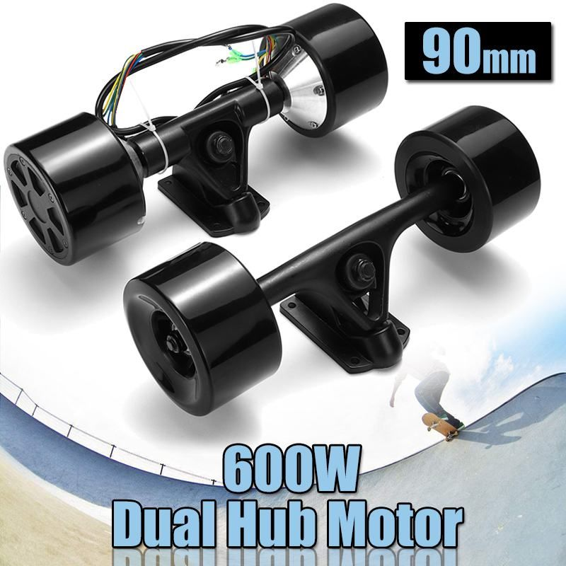 High Power Double Drive Scooter Hub Motor Kit DC Brushless Wheel Motor Remote Control For The Electric Skateboard 600W