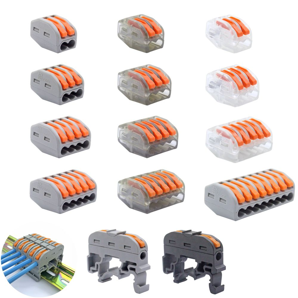 Free Shipping (30-100pcs/lot) 222 WAGO mini fast wire Connectors,Universal Compact Wiring Connector,push-in Terminal Block