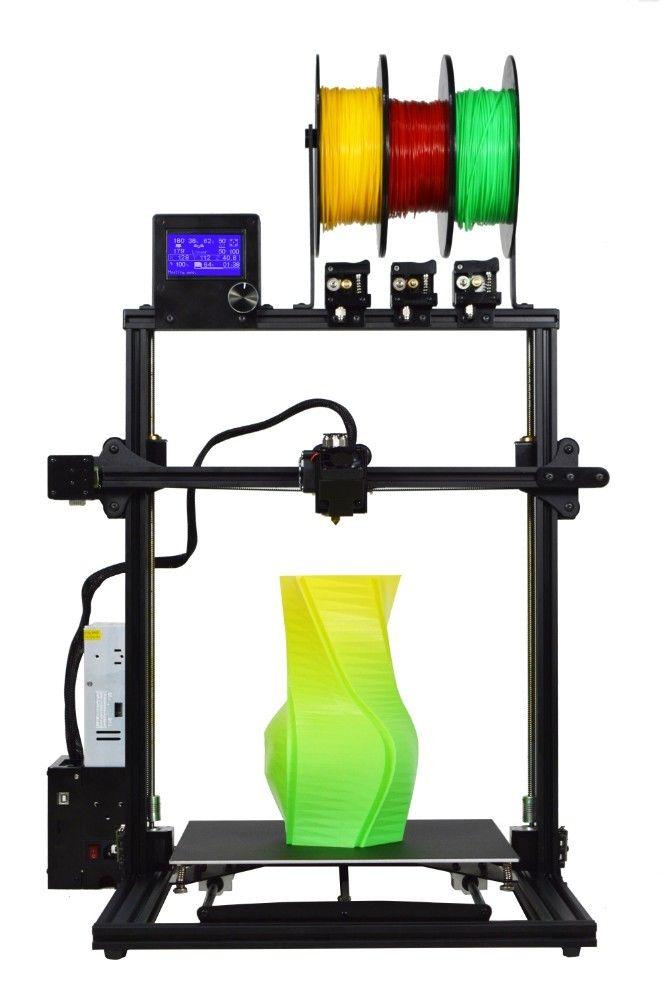 ZONESTAR 2019 Neue Upgrade Große Größe 3 Extruder Multi Farbe Voll Metall Aluminium Rahmen Schnelle Montage 3D Drucker DIY Kit freies Schiff